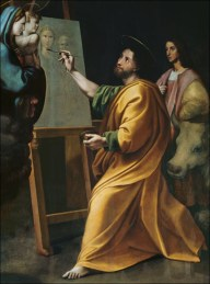 Saint Luke Painting the Madonna and Child in the Presence of Raphael (1483-1520 Accademia di San Luca, Rome, Italy