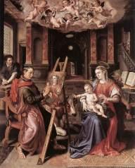 St Luke Painting the Virgin Mary VOS, Marten de 1602 Koninklijk Museum voor Schone Kunsten, Antwerp