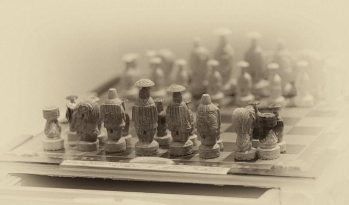 Valery Vykvyragtyrgyrgyn's Chess Set. Set to travel around the world. Photo © 2013 Galya Morrell