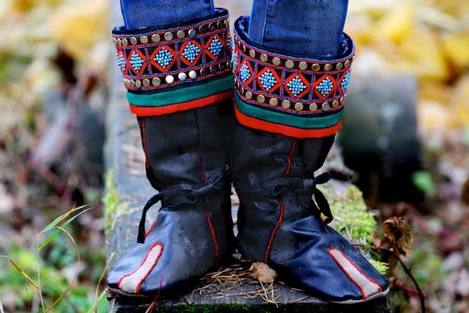 Yakutian boots made by Anna Akimova, 81. Photo © 2013 Galya Morrell