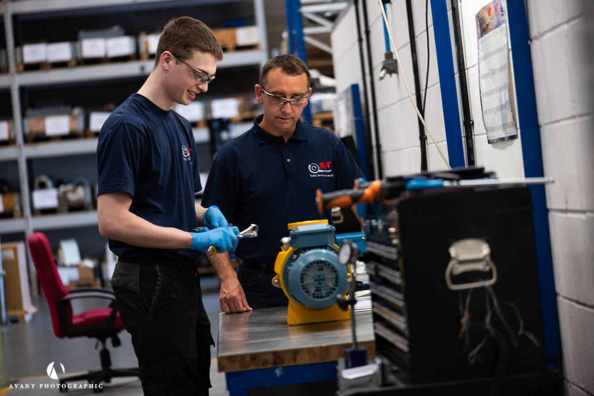 Avant Commercial - two engineers service a pump at AVTPUMP