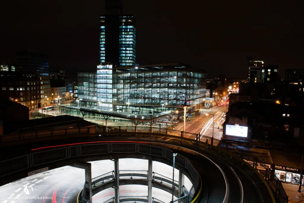 Manchester skyline, the beauty of car parks, Phil Burrowes, Arndale Manchester, Manchester Printworks,