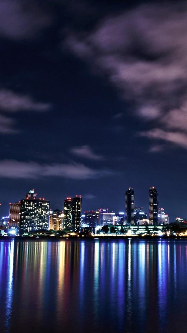 Night City Light Wallpaper On Iphone Plus Free Phone 750x1334