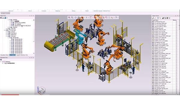 Tutorial do Tecnomatix Process Simulate: ferramentas de ligação de sinais