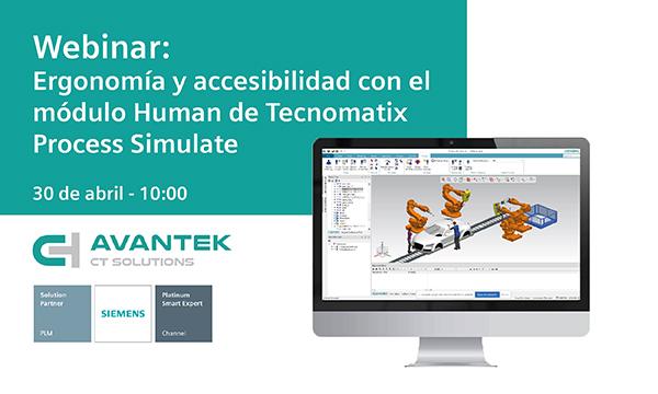 Webinar sobre ergonomía y accesibilidad con el módulo Human de Tecnomatix Process Simulate