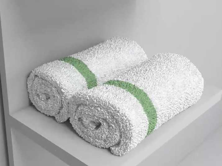 Roling Towels in Bathroom Closet