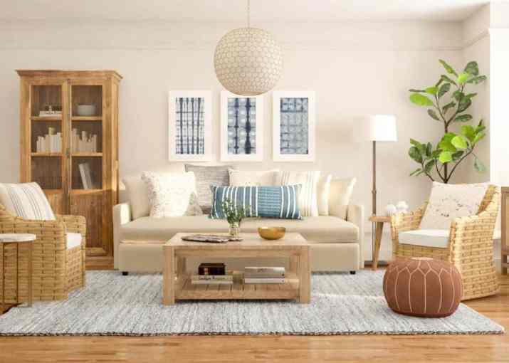 Light Rustic Living Room