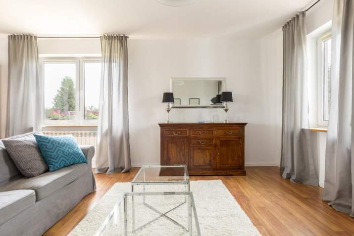 Sheer Grey Living Room Curtain