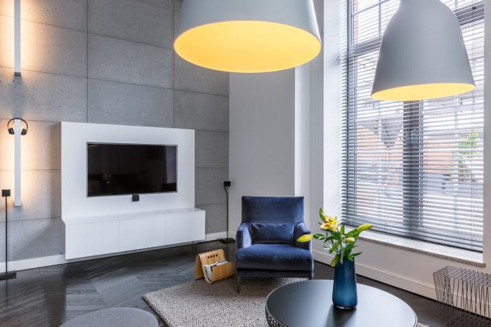 Cozy Metallic Grey Living Room