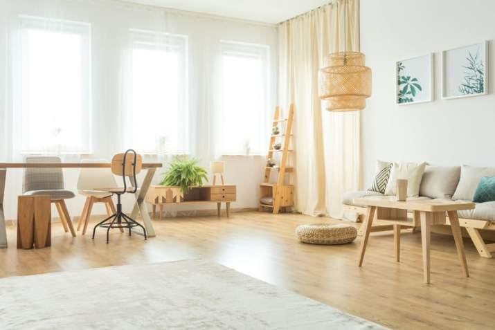 Spacious Rustic Living Room