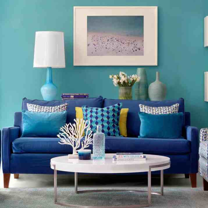 Coastal Teal Living Room