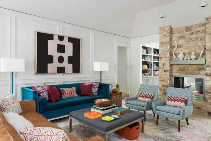 Creative Mid Century Modern Living Room. Source: decorordesign.com