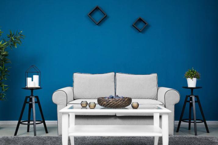 Ordinary Grey and Blue Living Room