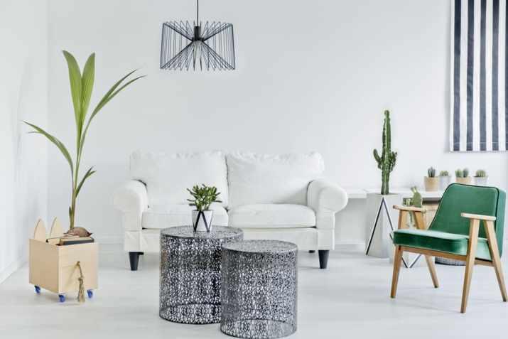 Plain Living Room Wall