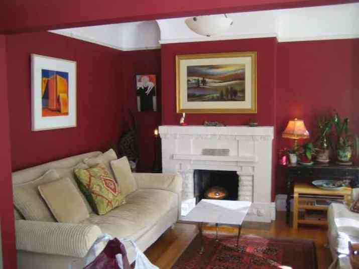 Red Matte for Classic Living Room