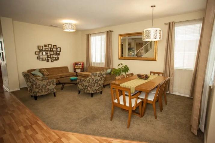 Multipurpose Living Room Arrangement