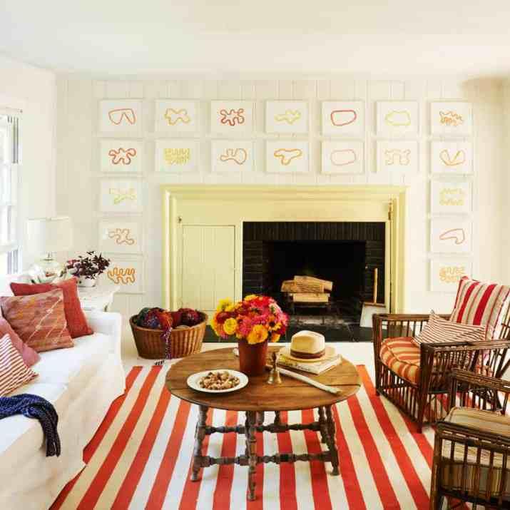 Quirky Orange Living Room