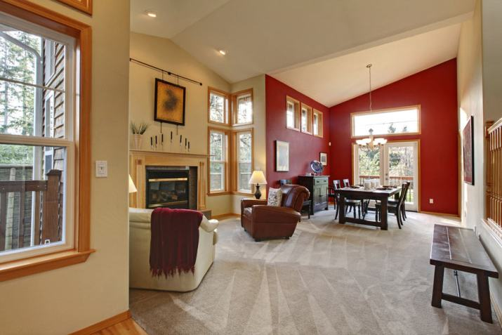 Traditional Living Room Dining Room Combo