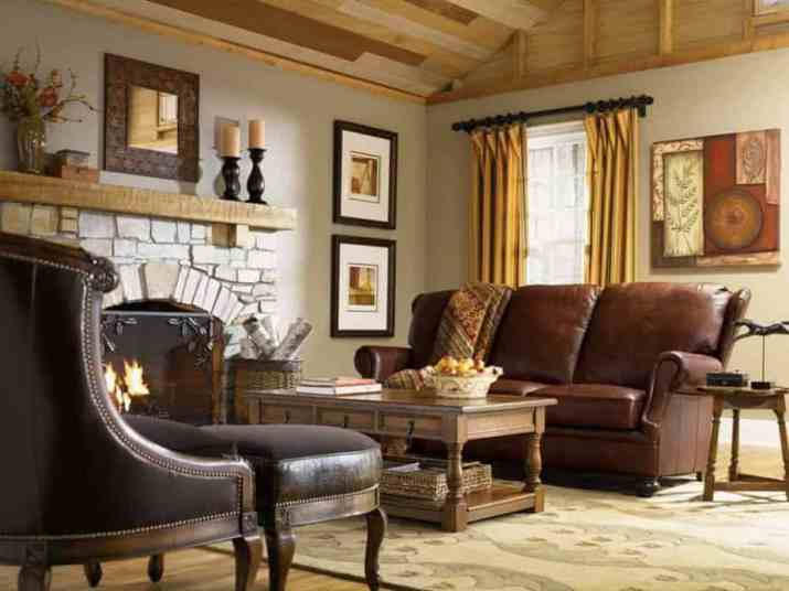 Rustic French Country Living Room.