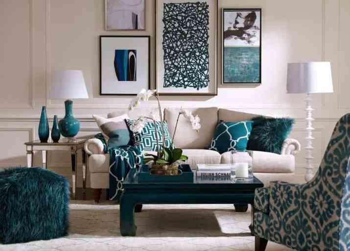 Smart Teal Living Room