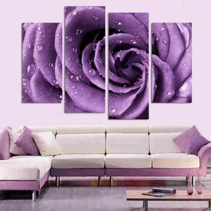 Purple Living Room with Hanged Decoration. Source: Pinteresr