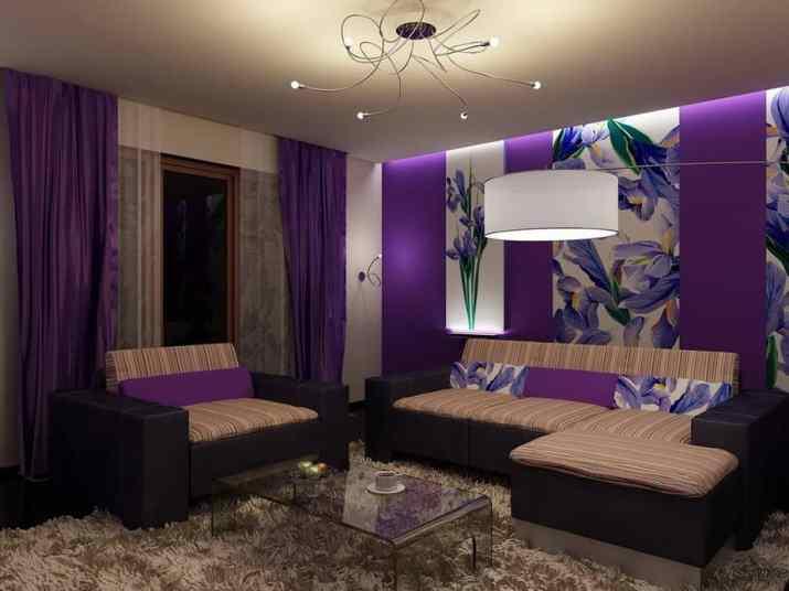 Creative Purple Living Room. Source: meqasa.com