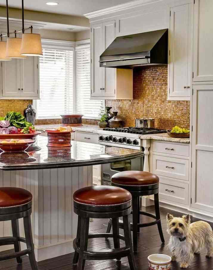 Kitchen Island Dark Countertop