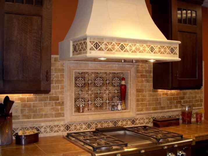 Warm, Travertine Kitchen Backsplash
