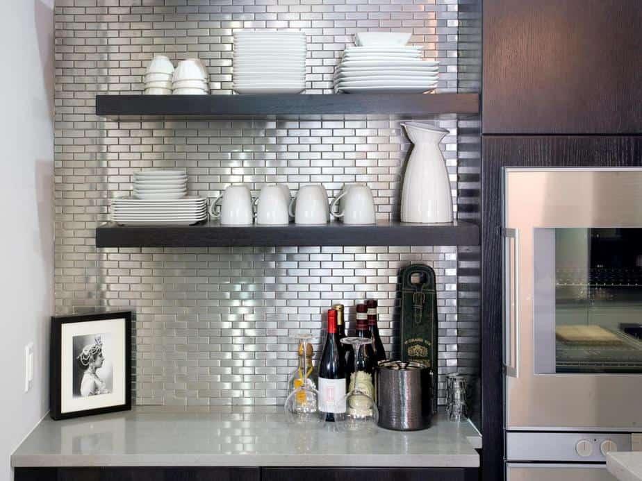 Fancy, Mirrored Kitchen Backsplash