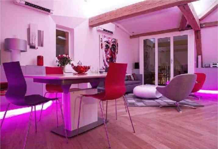 Dazzling Purple Living Room
