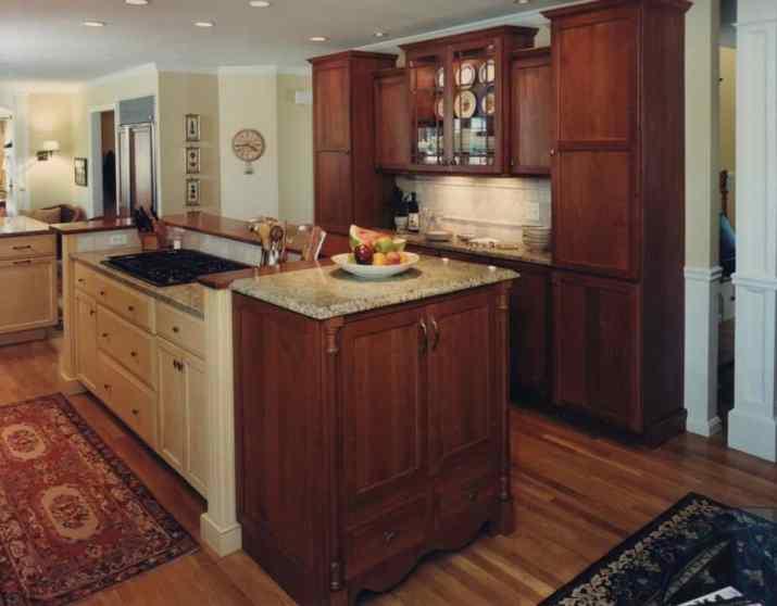 Natural Dark Kitchen Cabinet
