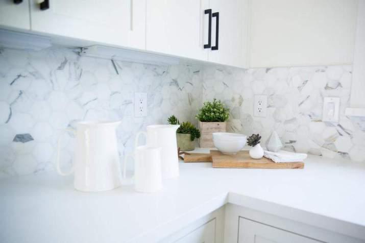 Unique, Marble Kitchen Backsplash