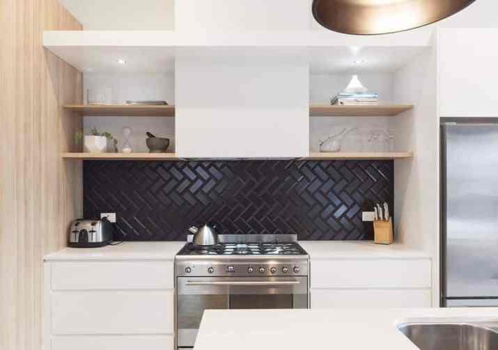 Fashionable, Industrial Kitchen Backsplash