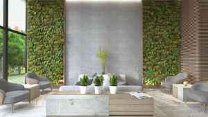 Natural Grey and Green Living Area