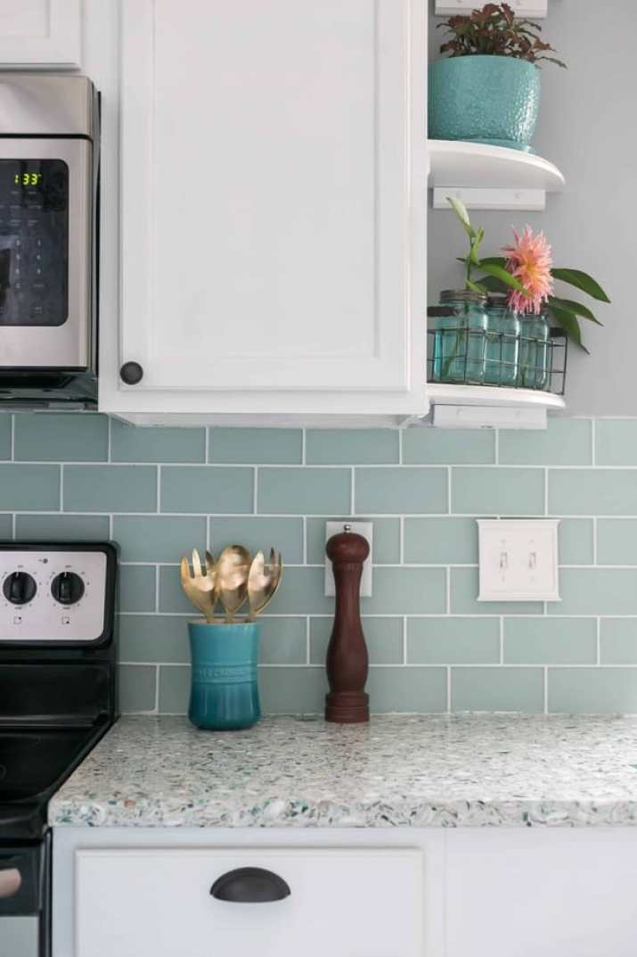 Peaceful, Galley Kitchen Backsplash