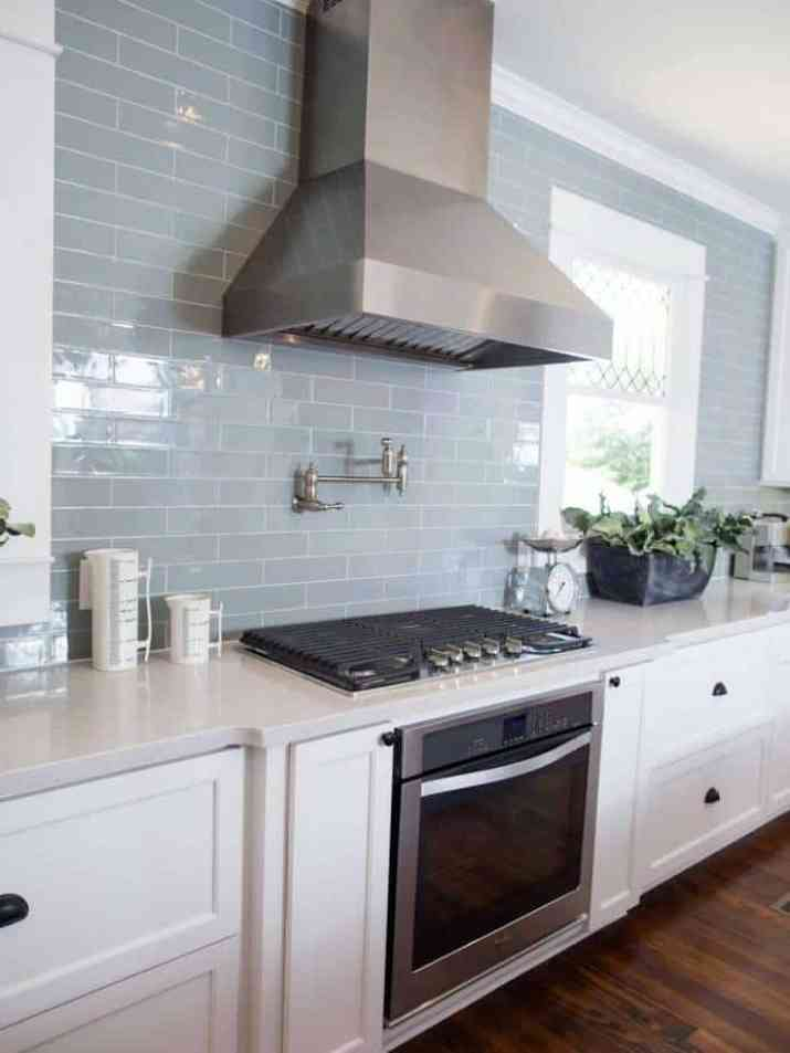 Subway Tile in Muted Blue
