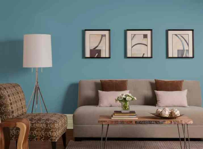 Sweet Brown and Turquoise Living Room