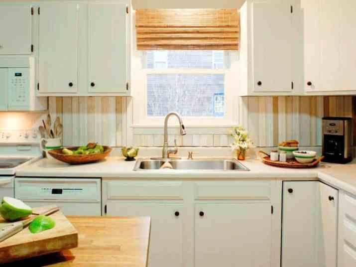 Wood Boards as Cheap Kitchen Backsplash
