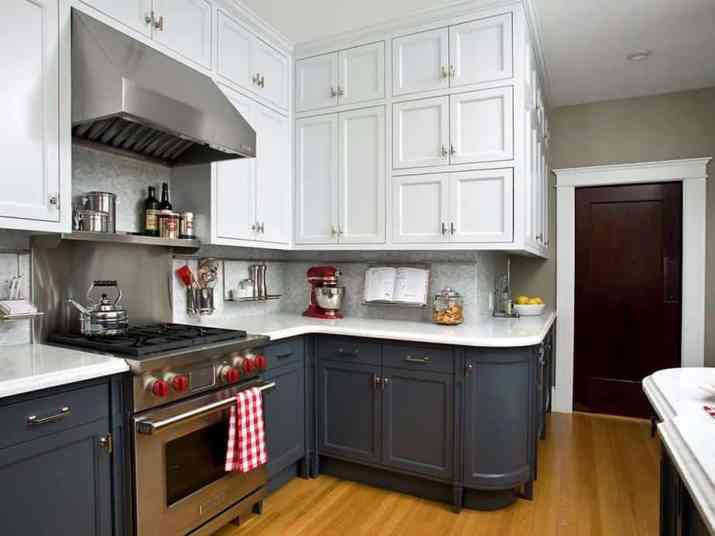 Neutral Two Toned Kitchen Cabinet