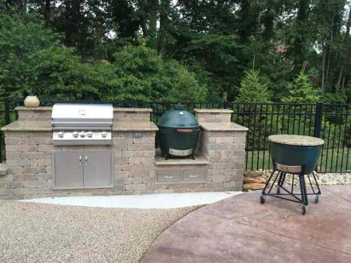 Steady Big Green Egg Outdoor Kitchen