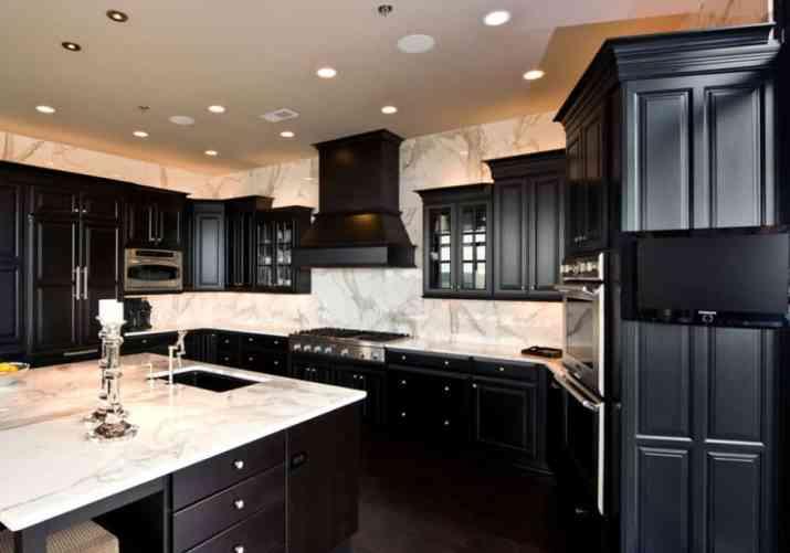 Bold Dark Kitchen