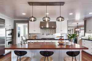 Industrial and Cool Kitchen Lighting