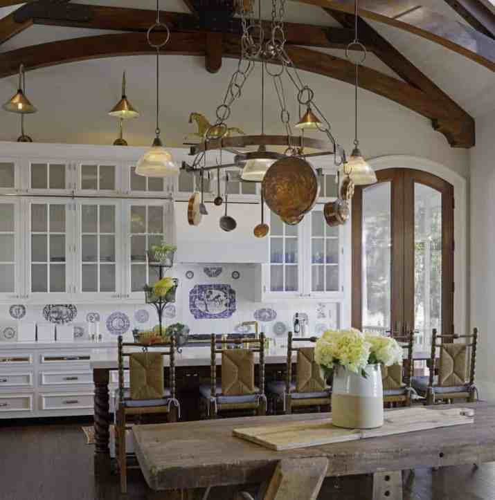 Interesting French Country Kitchen