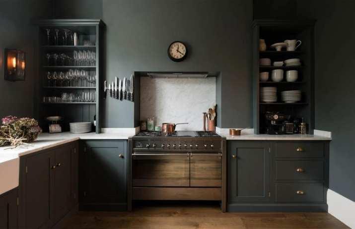 Simple Dark Kitchen