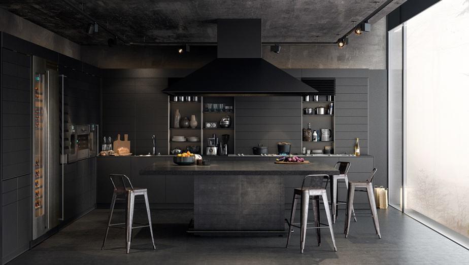 Relieved Industrial Kitchen