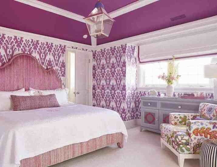 Purple Bedroom Accent Wall