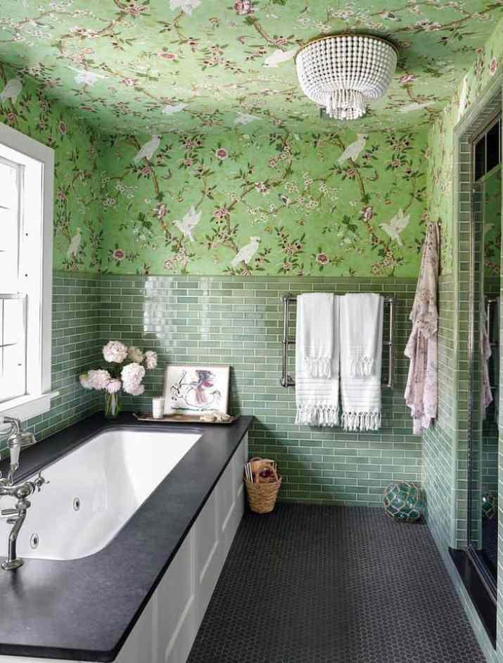 Bird Life Bathroom Accent Wall