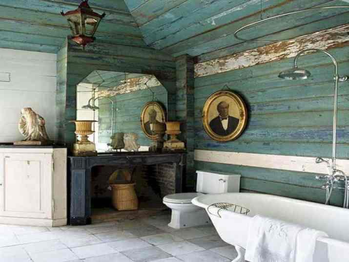 Recycled Bathroom Baseboard