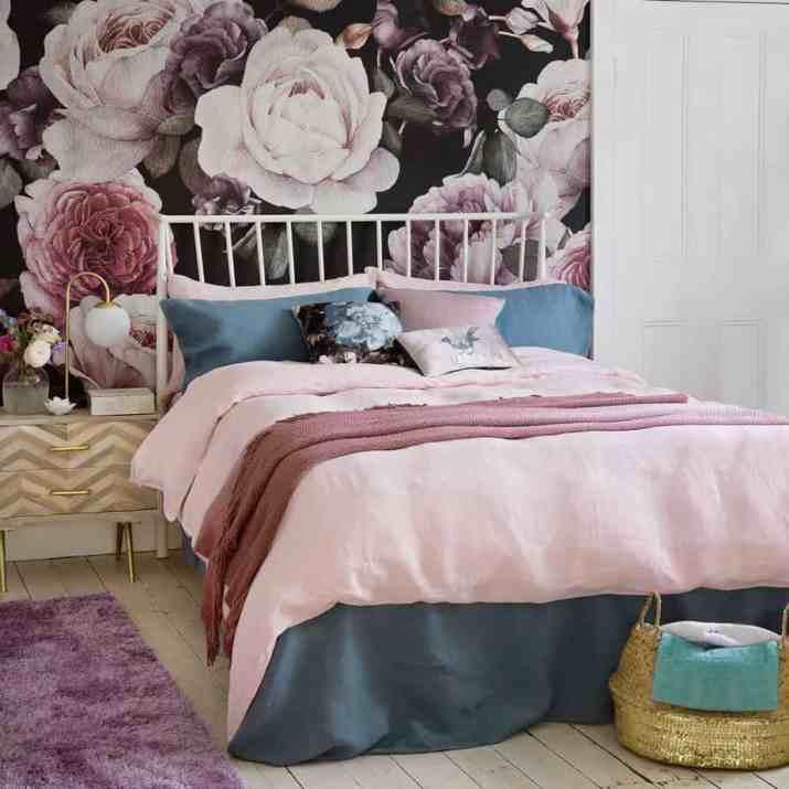 Unique Purple Bedroom