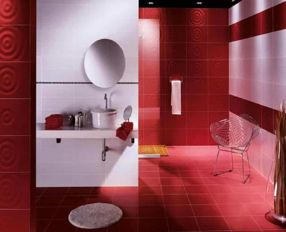 Fabulous Red Bathroom